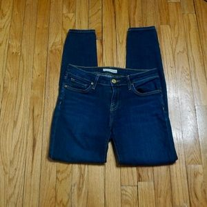 JOIE Blue Mid-Rise Skinny Jeans (Size 26)